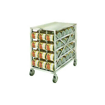 Lakeside 458 Stainless Steel Mobile Can Storage & Dispensing Rack