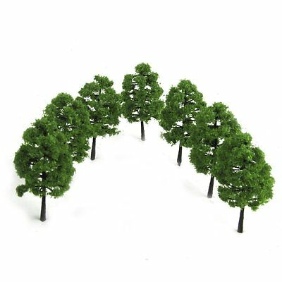 Scenery Landscape Train Railroad Model Trees Scale 1:100 20pcs Dark Green