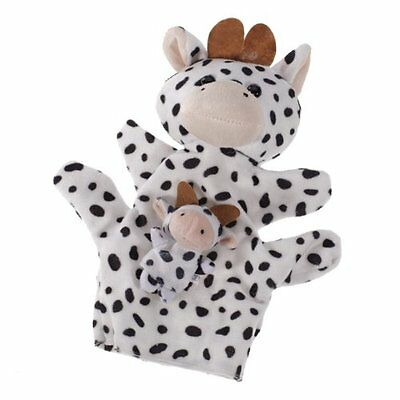 Black and White Dairy Cow Hand Puppet Finger Puppets