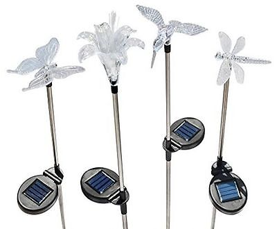 Solaration Solar Stake Flower Hummingbird Butterfly Dragonfly Light Fixture