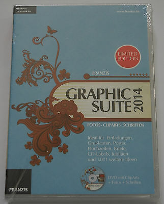 Graphic Suite 2014 Limited Edt Fotos Cliparts Schriften PC DVD Software Computer