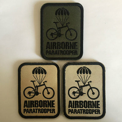 3PCS Airborne Paratrooper USA American Military Air Force Tactical Morale Patch