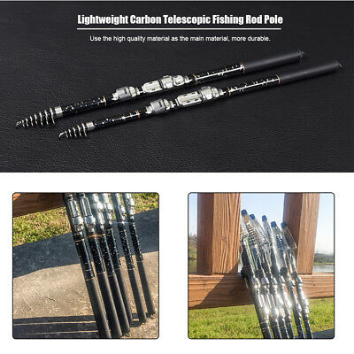 1.8/2.1/2.4/2.7/3.0/3.6M Lightweight Carbon Telescopic Fishing Rod Pole CN GT