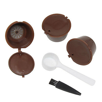 3pcs Reusable Capsules Filter Cup for Nescafe Dolce Gusto Coffee Pod