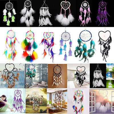 New Handmade Dream Catcher Net With feathers Hanging Decoration Decor Craft Gift