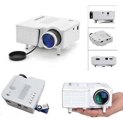 Projecteur LED Mini projecteur portable Home Cinema VGA USB SD AV PC PHONE CHAUD