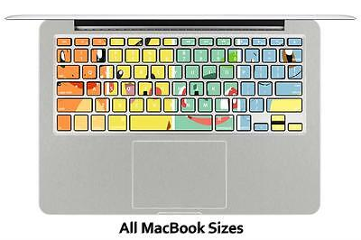 Macbook Pro Air 13 15 keyboard Stickers cover Decal Skins Pokemon Pikachu PPK066