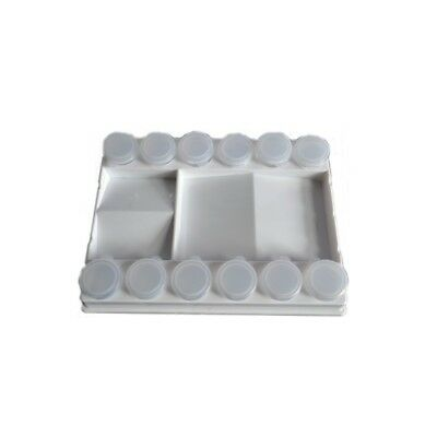 Frisk Artist Plastic Paint Palette with 12 Cup Containers
