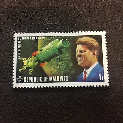 Republic Of Maldives Stamp John F Kennedy Apollo Project Space