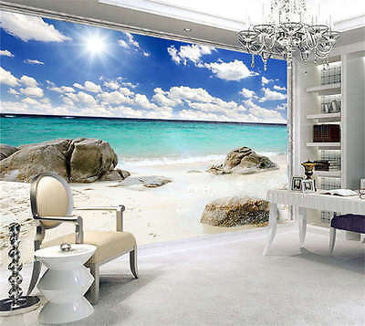 Fantasy Beach Sunshine Full Wall Mural Photo Wallpaper Print Kids Home 3D Decal