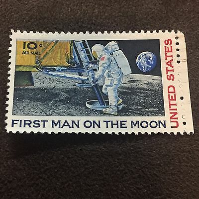 First Man On The Moon Stamp United States 10c Air Mail
