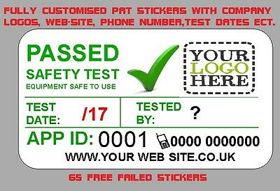 1235x PERSONALISED 4th EDITION PAT TEST PORTABLE APPLIANCE STICKERS LABELS