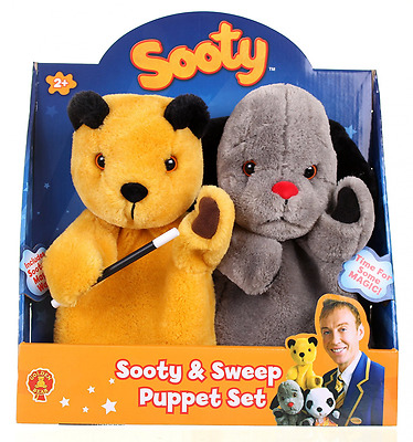 Sooty Show Sooty and Sweep Puppet Set Childrens Hand Puppets Interactive Toy New