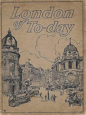 London of Today Possibly 100 year's old 24 pages of Beautiful Black White photos