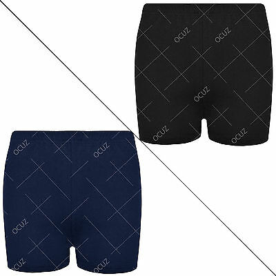Boys Girls Kids Children Unisex Casual School Uniform PE 100% Cotton Shorts •