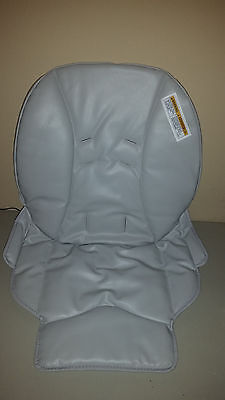 NEW Graco Blossom High Chair Seat Pad Cover Cushion Gray w/ new safety label