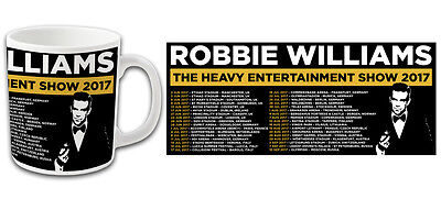 Pop Star Robbie Williams 2017 Tour Printed Mug Top Quality Bargain Price
