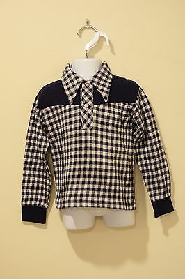 Vintage blue & white checkered DONMOOR western shirt size 6T
