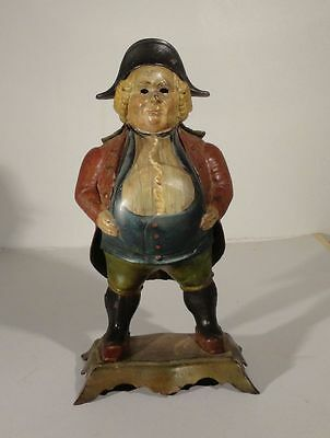 Antique Bradley And Hubbard Cast Iron Painted Clock Case John Bull Novelty