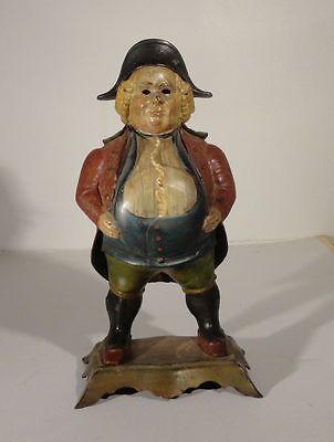 Antique Bradley And Hubbard Cast Iron Painted Clock Case John Bull Novelty