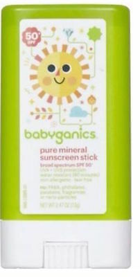 Babyganics Pure Mineral Sunscreen Stick 50+ SPF Water Resistant UNBOXED