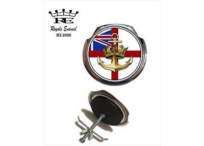 Royale Car Grill Badge & fittings - ROYAL NAVY ENSIGN & ANCHOR - B2.2050
