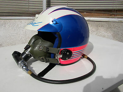 Vintage 1985 Bell Open Face Drag Boat Helmet With Mask Visor & Bell Helmet Bag!