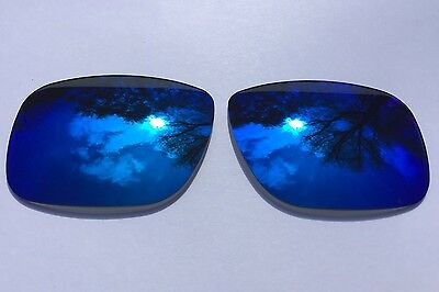 Polarized Deep Sea Blue Mirrored Replacement Oakley Holbrook Lenses