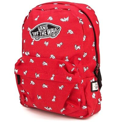 VANS x DISNEY DALMATIANS RED BACKPACK 100% AUTHETIC BRAND NEW w/TAG!!