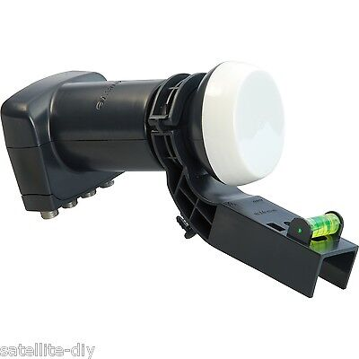New Sky Quad LNB with Adapter, Freesat, Freetoair, for Sky Dish, Foreign TV