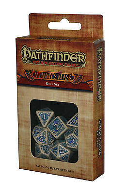 PATHFINDER-SET-DICE SET-Mummys Mask-W4,W6,W8,W10,W12,W20,W100-(00)-neu-new
