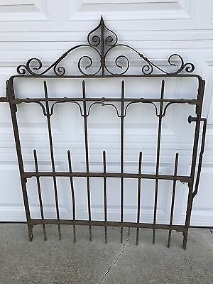 Antique wrought iron garden fence gate 1800's 150 years old LOCAL PICKUP