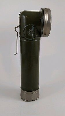 Vintage Bsa Official Boy Scout  Metal Flashlight ~ Works/no Batteries