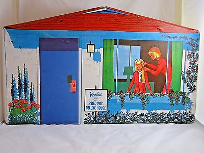 Vintage Barbie & Skipper Deluxe Play House, Travel Carrying Case