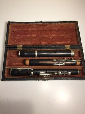 "Antique Rosewood Flute, 26 1/4"". 19th Cent. Fully restored, Sounds Beautiful."