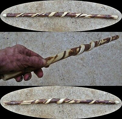 "26"" Natural Sumac Wood Vine Spiraled Wood Wizard Wand Witch Wand Mage Wand Power"