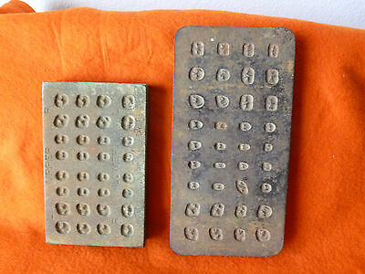 Two Antique/Vintage Steel Plate Dental Crown Molds-1 Ransom Randolph 1 SS White