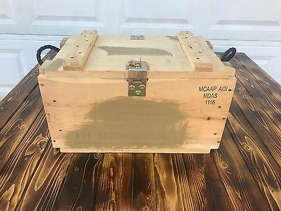 US Army Wooden Ammunition Ammo Crate Grenade Wood Box bigger than 50 30 cal can