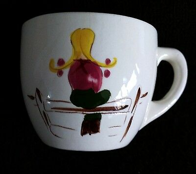 Vintage STANGL POTTERY Kiddieware PONY TRAIL Child's Cup 1955