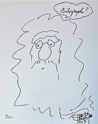 Tommy Chong Original Hand Drawn Signed Sketch 8x10 Photo JSA Authentic R45966
