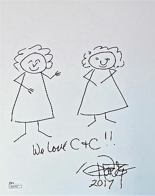 Tommy Chong Original Hand Drawn Signed Sketch 8x10 Photo JSA Authentic R45967