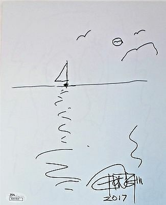 Tommy Chong Original Hand Drawn Signed Sketch 8x10 Photo JSA Authentic R45969