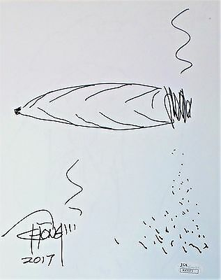 Tommy Chong Original Hand Drawn Signed Sketch 8x10 Photo JSA Authentic R45973