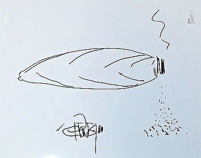 Tommy Chong Original Hand Drawn Signed Sketch 8x10 Photo JSA Authentic R45975