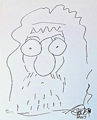 Tommy Chong Original Hand Drawn Signed Sketch 8x10 Photo JSA Authentic R45977