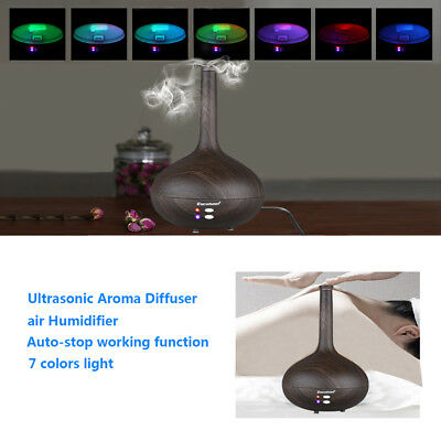 LED Ultrasonic Air Humidifier 280ml Essential Oil Aroma Diffuser Aromatherapy AU