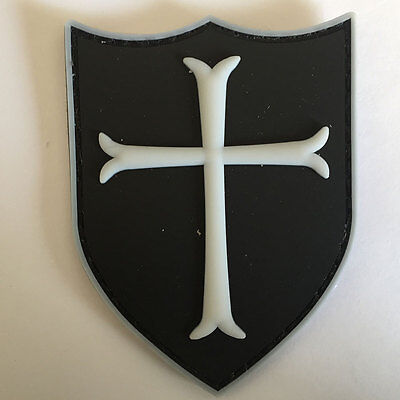 The Crusaders Military Order Knights Templar Cross Shield Tactical Morale Patch