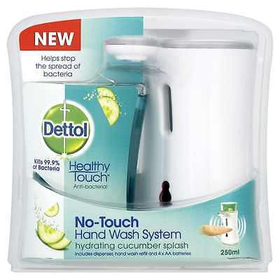 Dettol No-Touch Hand Wash System Hydrating Cucumber Splash Includes Dispenser
