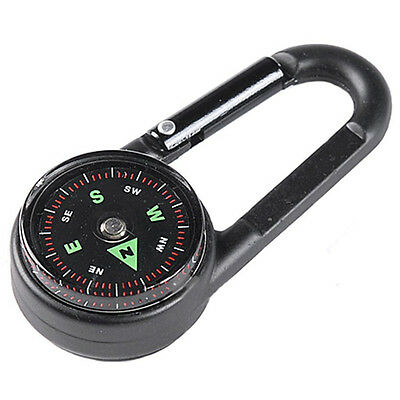 Multifunctional Mini Compass + Thermometer + Keychain in 1