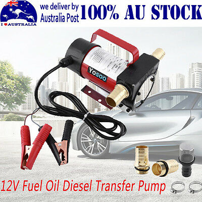 Car Neccessity 12V Fuel Oil Diesel Transfer Pumps Station Heavy Duty 40L/min AU
